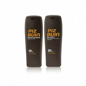 Piz Buin ALLERGY Sun Sensitive Skin Lotion SPF 30 + MOISTURISING Sun Lotion SPF 10 set 200 ml+200 ml