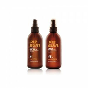 Piz Buin TAN&PROTECT SPF 6 Oil Spray + TAN&PROTECT SPF 15 Oil Spray set 150 ml+150 ml