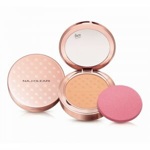 Naj-Oleari Silk feel Powder Foundation kompaktní pudr a make-up 2v1  02 peach