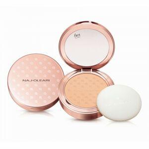 Naj-Oleari Skin Caress Pressed Powder zmatňující kompaktní pudr  01 warm beige