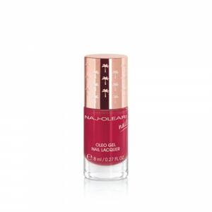 Naj-Oleari Oleo gel Nail Lacquer lak na nehty s gelovým efektem  23 currant red