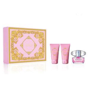 Versace Bright Crystal Set dárková kazeta EdT 50 ml, tělový gel 50 ml a tělové mléko 50 ml