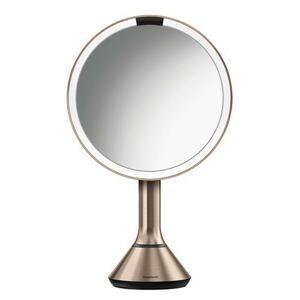 Simplehuman Kosmetické zrcátko s Tru-Lux LED osvětlením, a 5x násobným zvětšením, dobíjecí   Rose gold